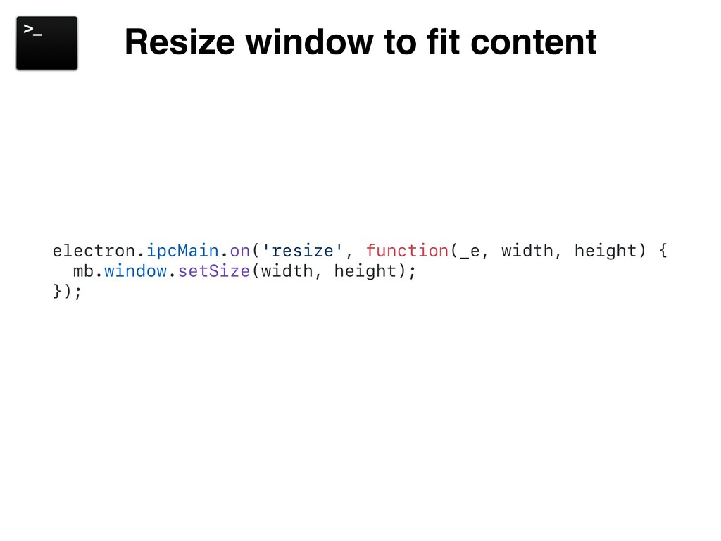 Resize window to fit content electron.ipcMain.on...