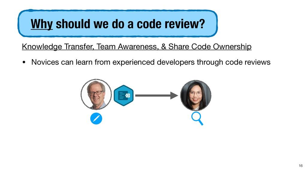 Knowledge Transfer, Team Awareness, & Share Cod...