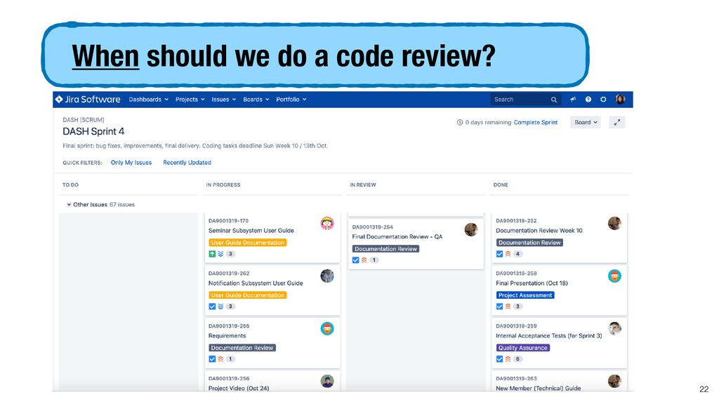 When should we do a code review? 22