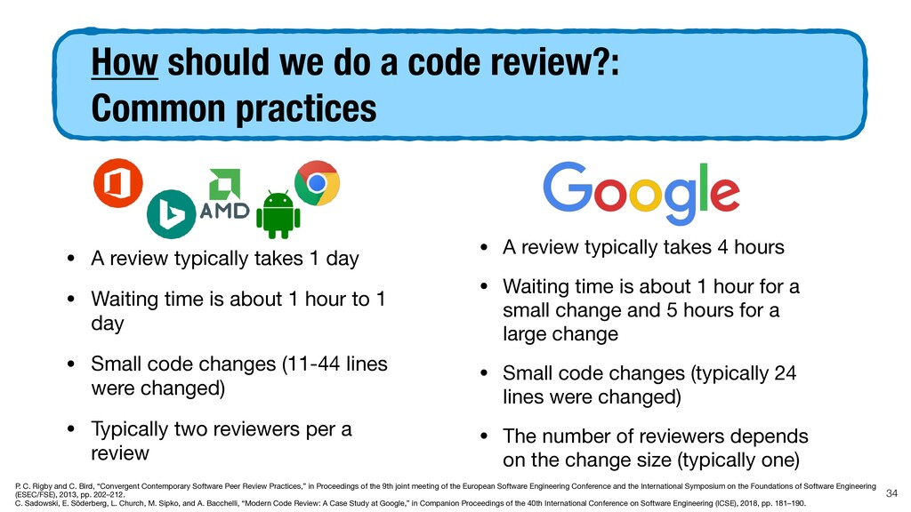 How should we do a code review?:  Common pract...