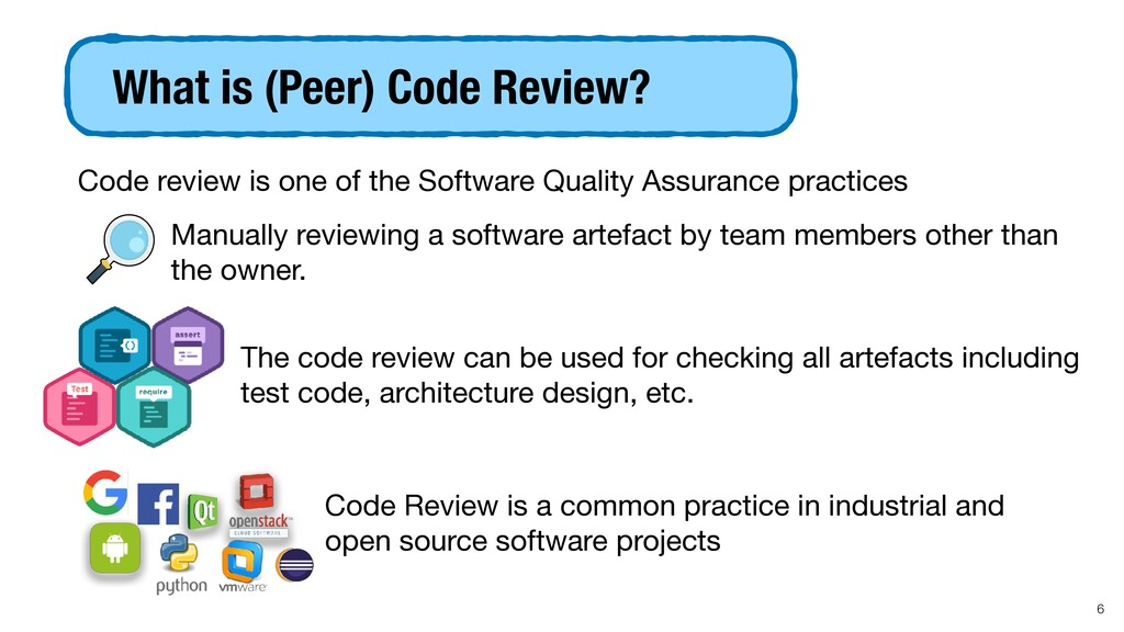 Code review is one of the Software Quality Assu...