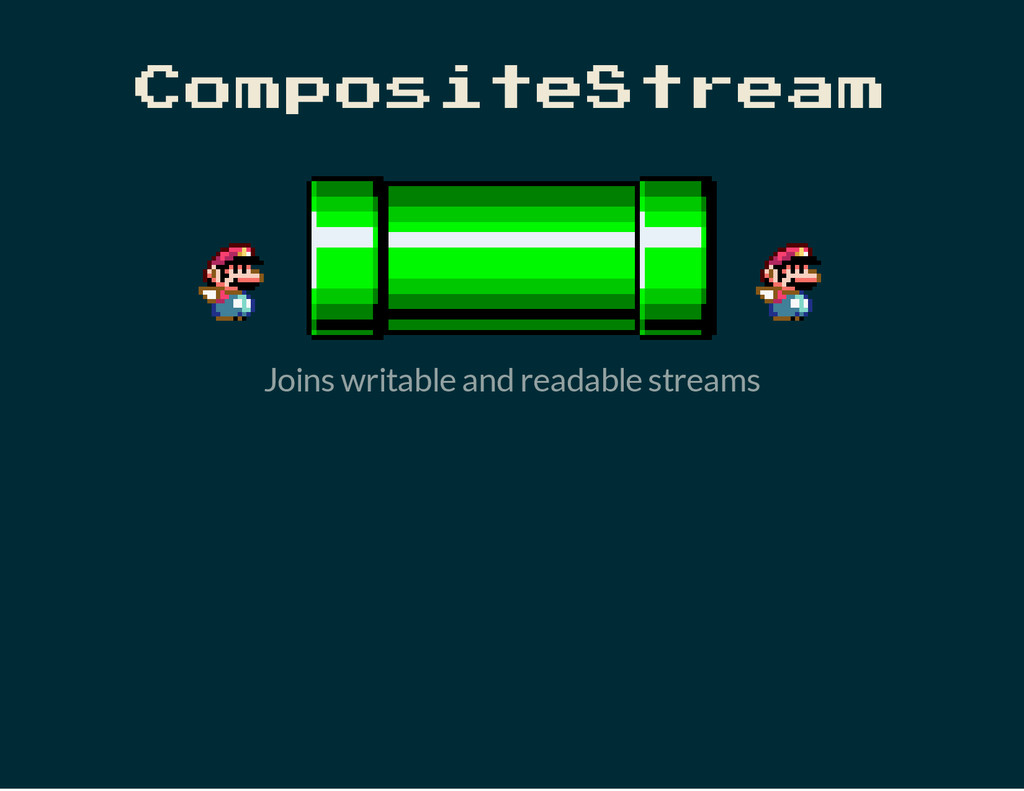 CompositeStream Joins writable and readable str...