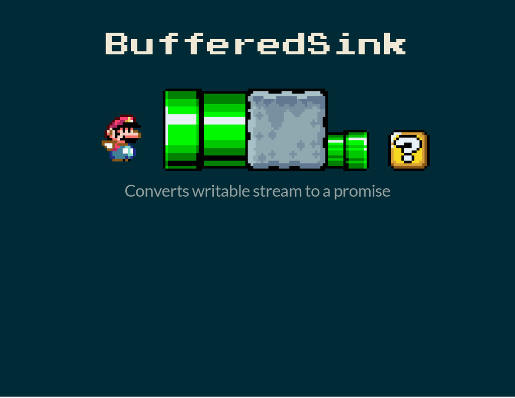 BufferedSink Converts writable stream to a prom...
