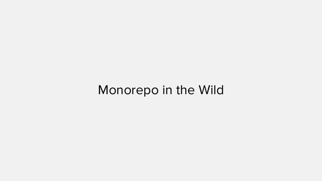 Monorepo in the Wild