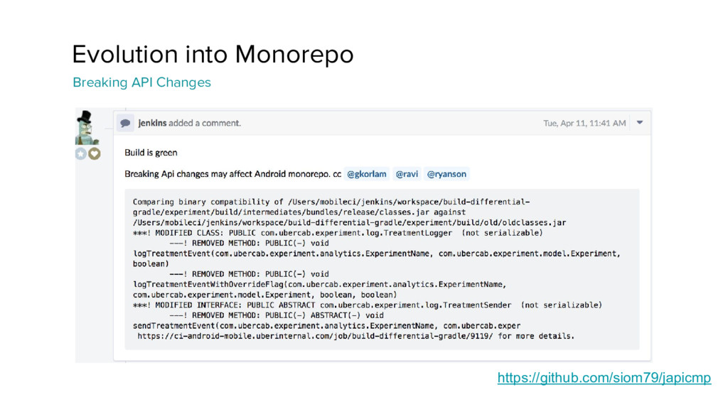 Evolution into Monorepo Breaking API Changes ht...