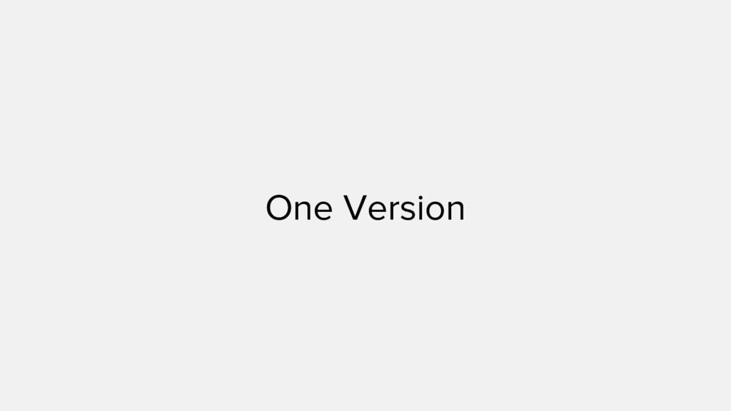 One Version