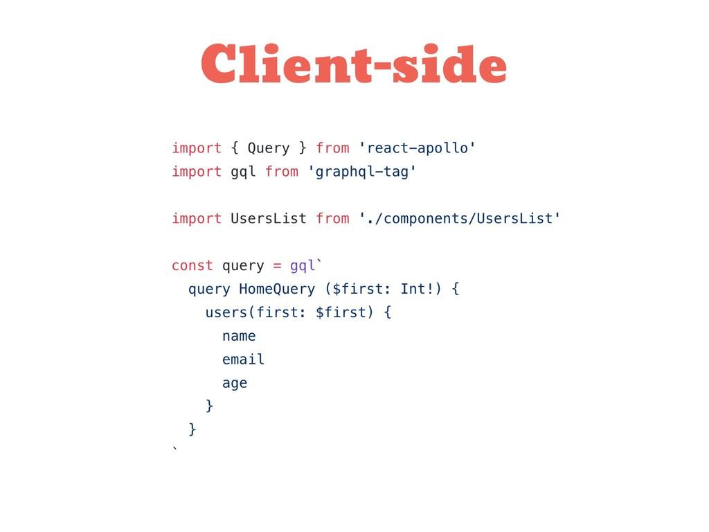 Client-side