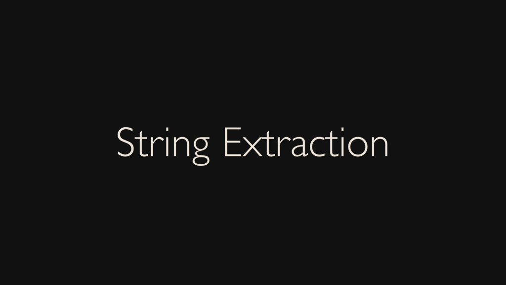 String Extraction