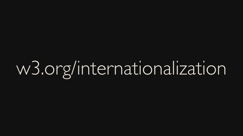 w3.org/internationalization