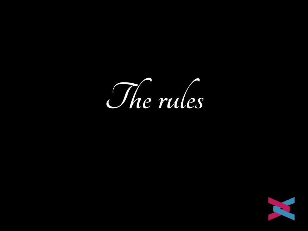 The rules Mike van Riel
