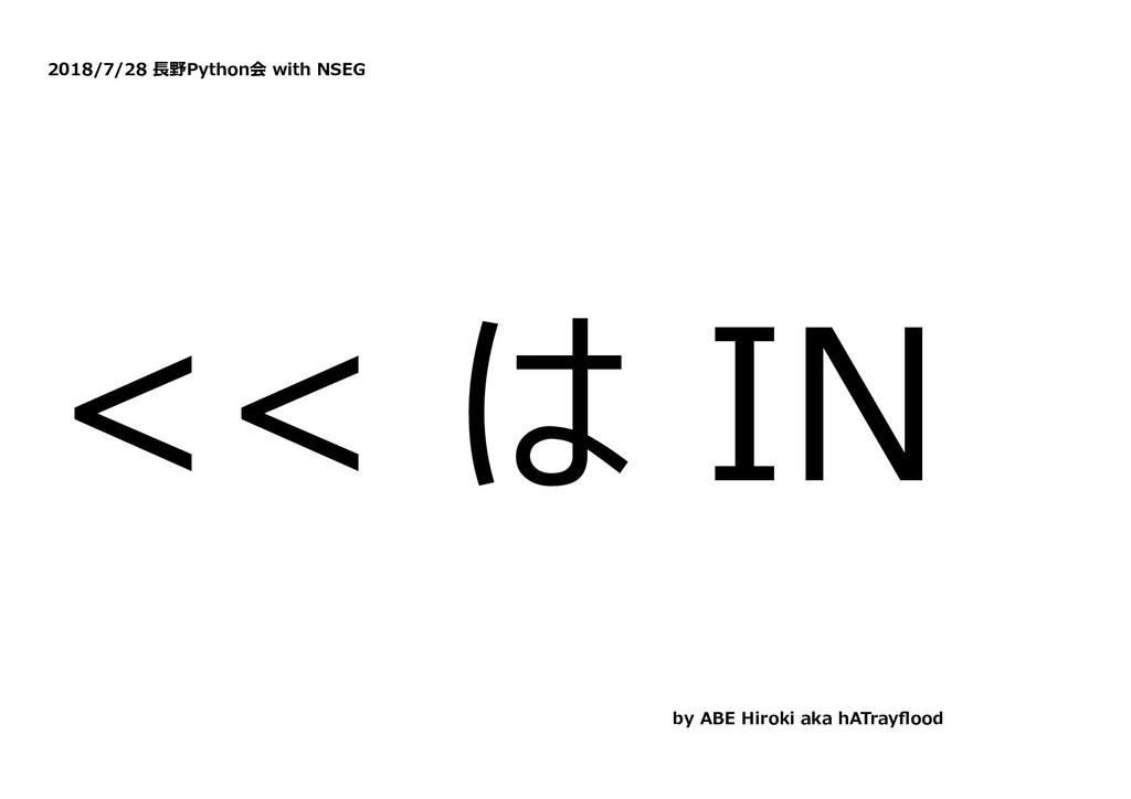 2018/7/28 ⻑野Python会 with NSEG << は IN by ABE Hi...