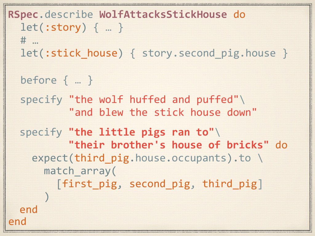 """specify """"the little pigs ran to""""\ """"their brothe..."""