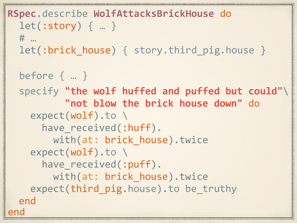 """specify """"the wolf huffed and puffed but could""""\..."""