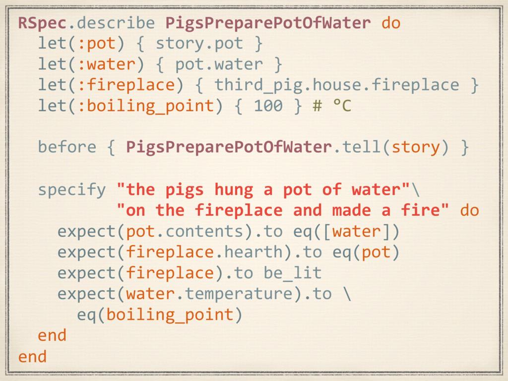 RSpec.describe PigsPreparePotOfWater do before ...