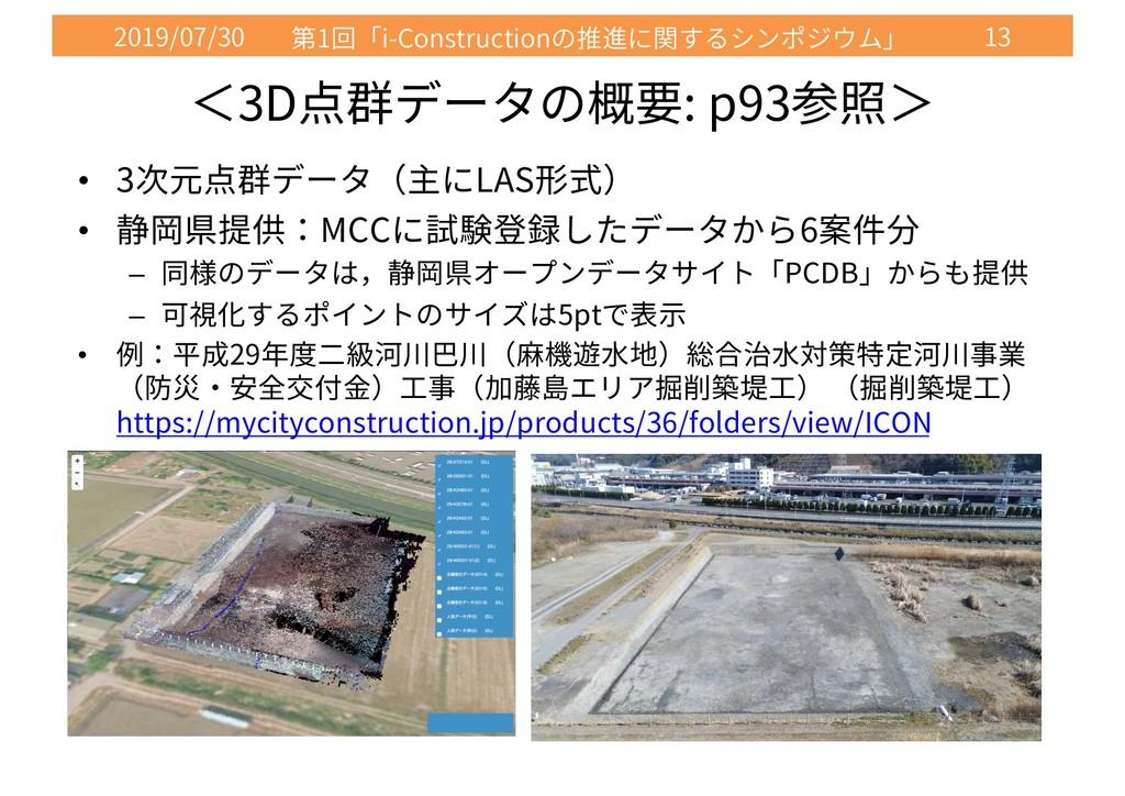 2019/07/30 1 i-Construction 13 3D : p93 • 3 LAS...