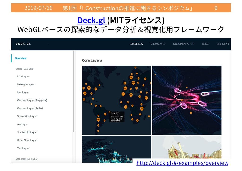 2019/07/30 1 i-Construction 9 Deck.gl (MIT ) We...