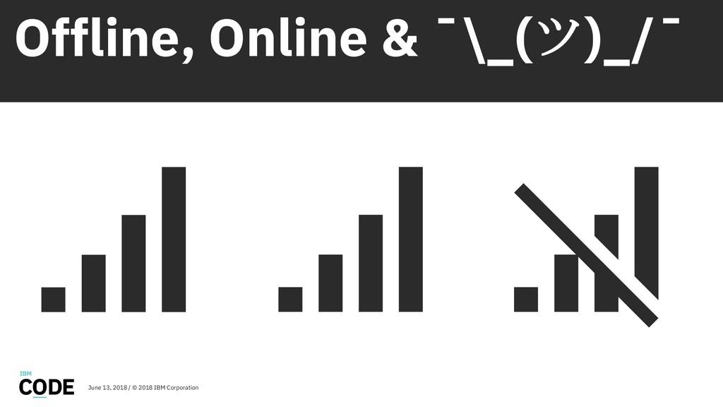 Offline, Online & ¯\_(ツ)_/¯ June 13, 2018 / © 2...