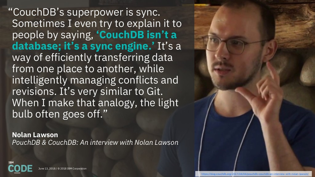 """CouchDB's superpower is sync. Sometimes I even..."