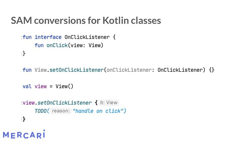 SAM conversions for Kotlin classes