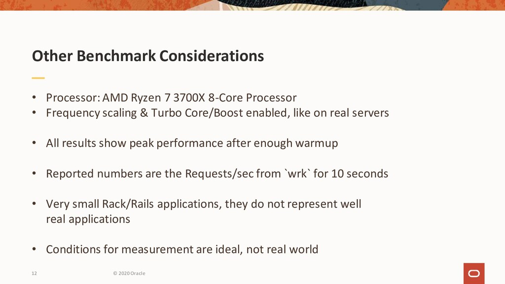 Other Benchmark Considerations • Processor: AMD...