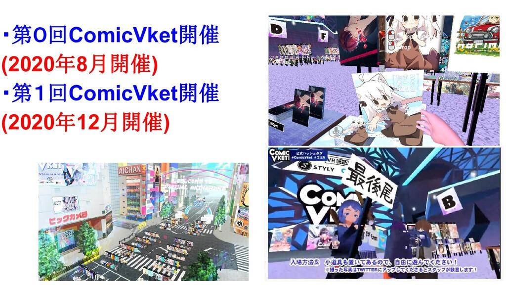 ・第0回ComicVket開催 (2020年8月開催) ・第1回ComicVket開催 (20...