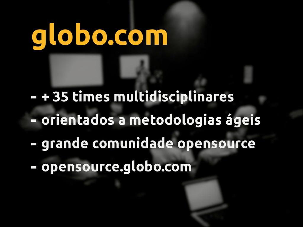 globo.com - + 35 times multidisciplinares - ori...