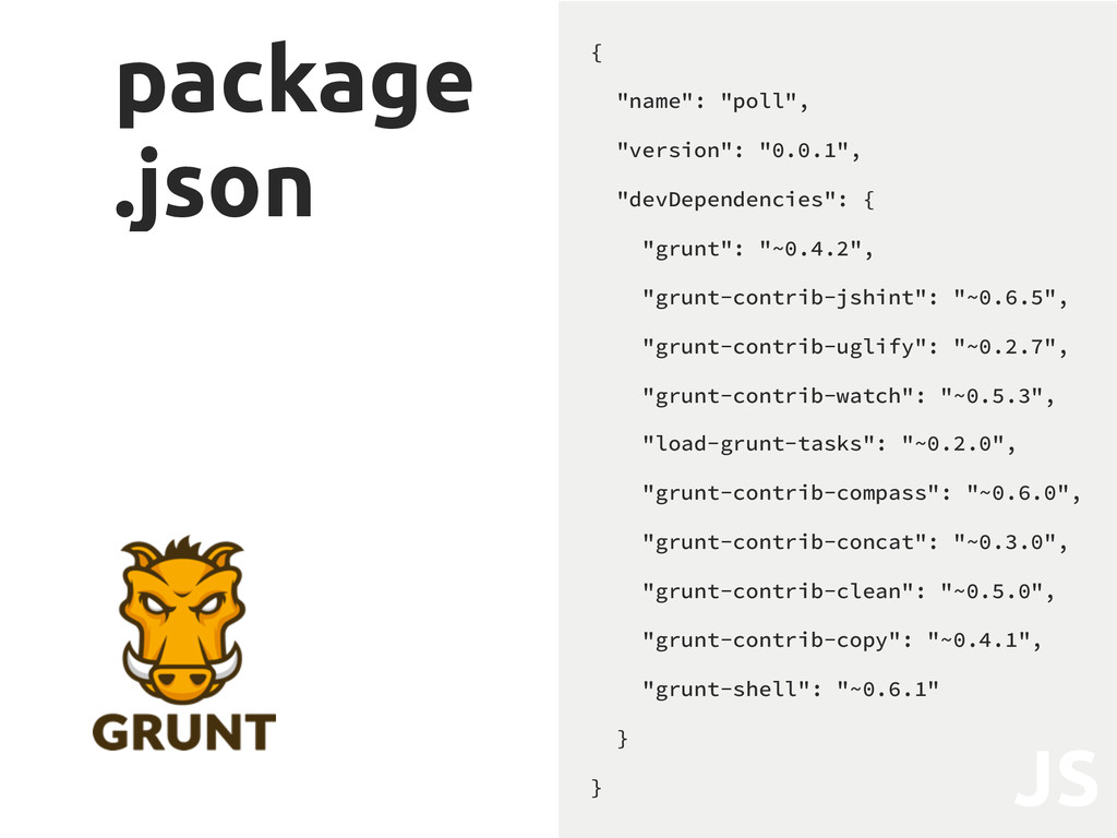 "package .json { ""name"": ""poll"", ""version"": ""0.0..."