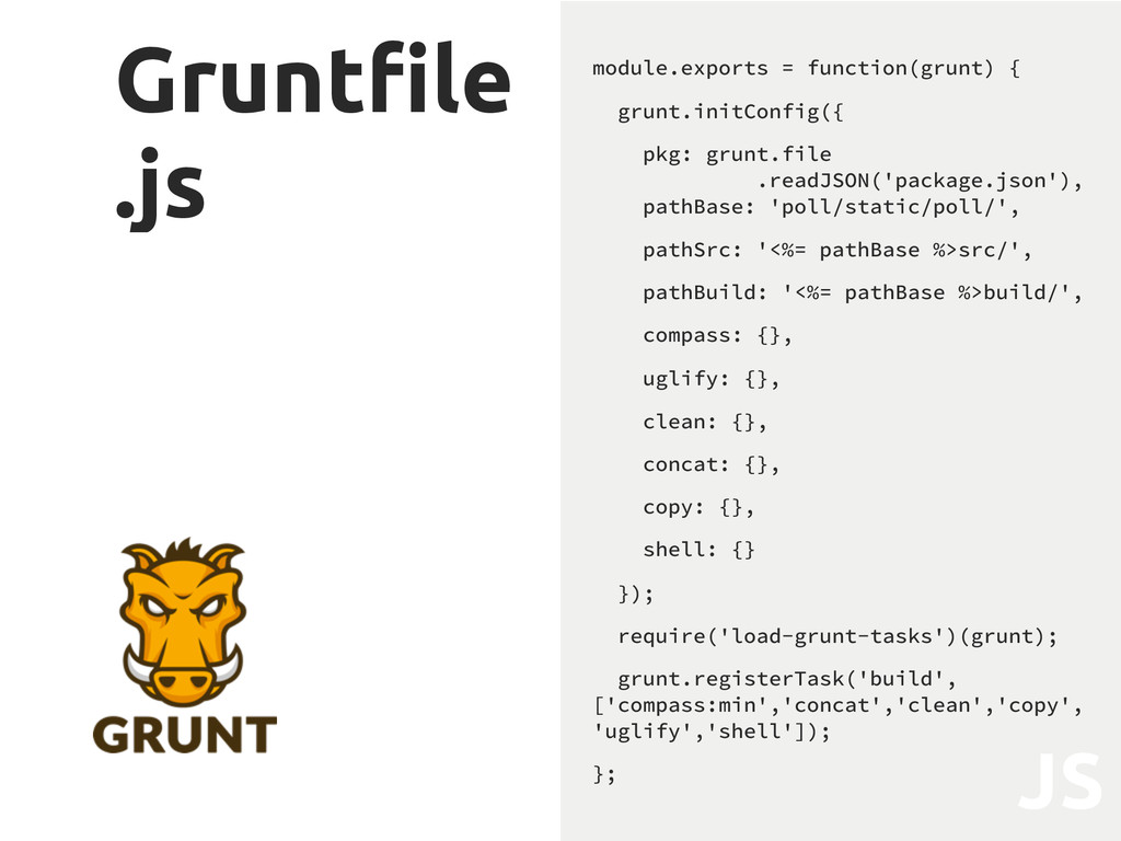 "Grunt""le .js module.exports = function(grunt) {..."