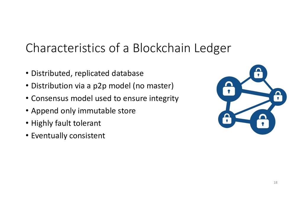 Characteristics of a Blockchain Ledger • Distri...