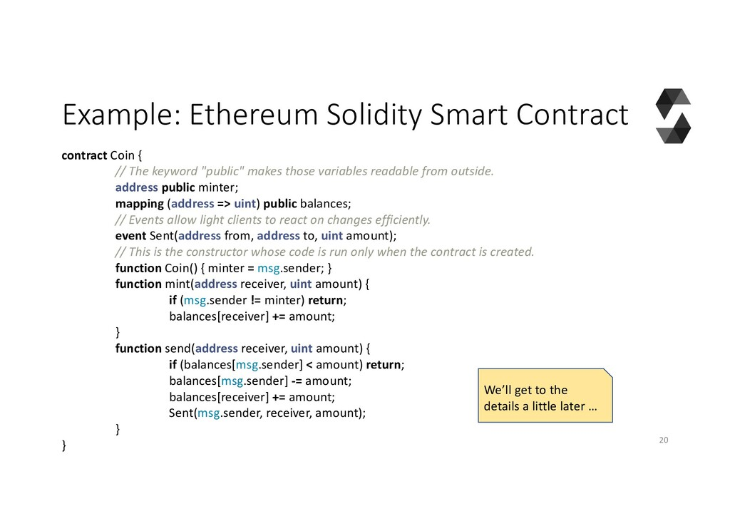 Example: Ethereum Solidity Smart Contract contr...