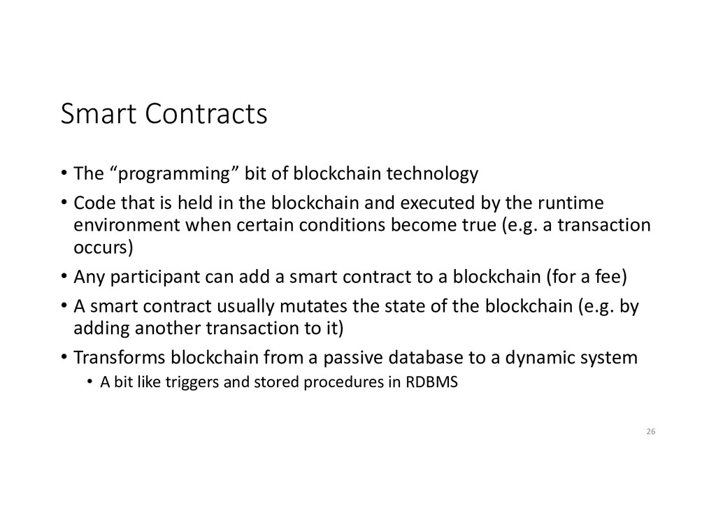 """Smart Contracts • The """"programming"""" bit of bloc..."""
