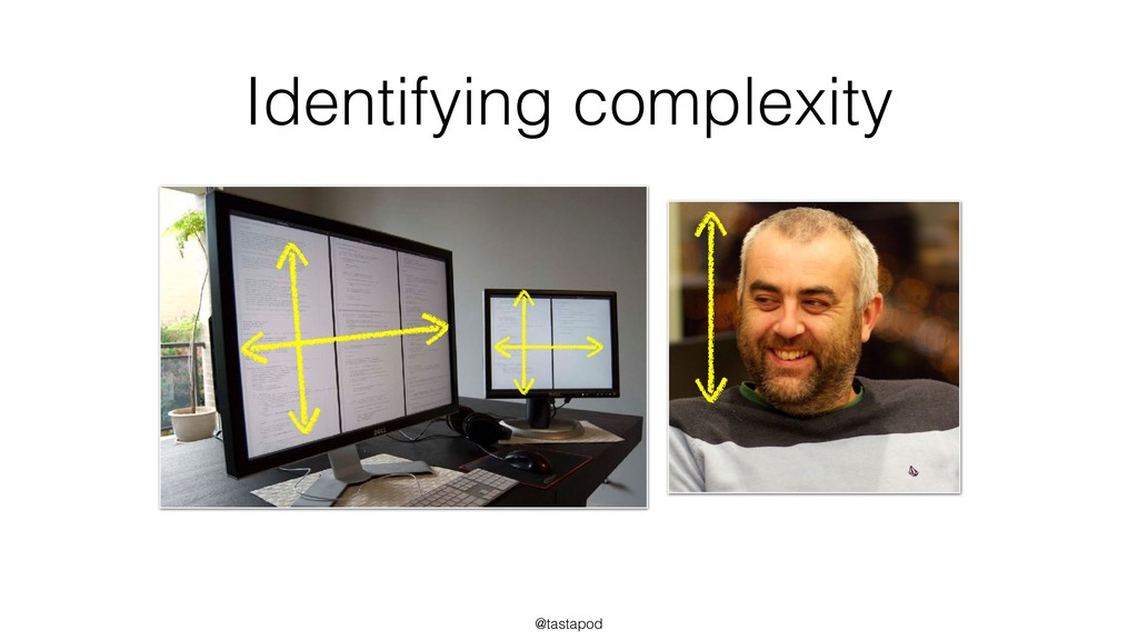 @tastapod Identifying complexity