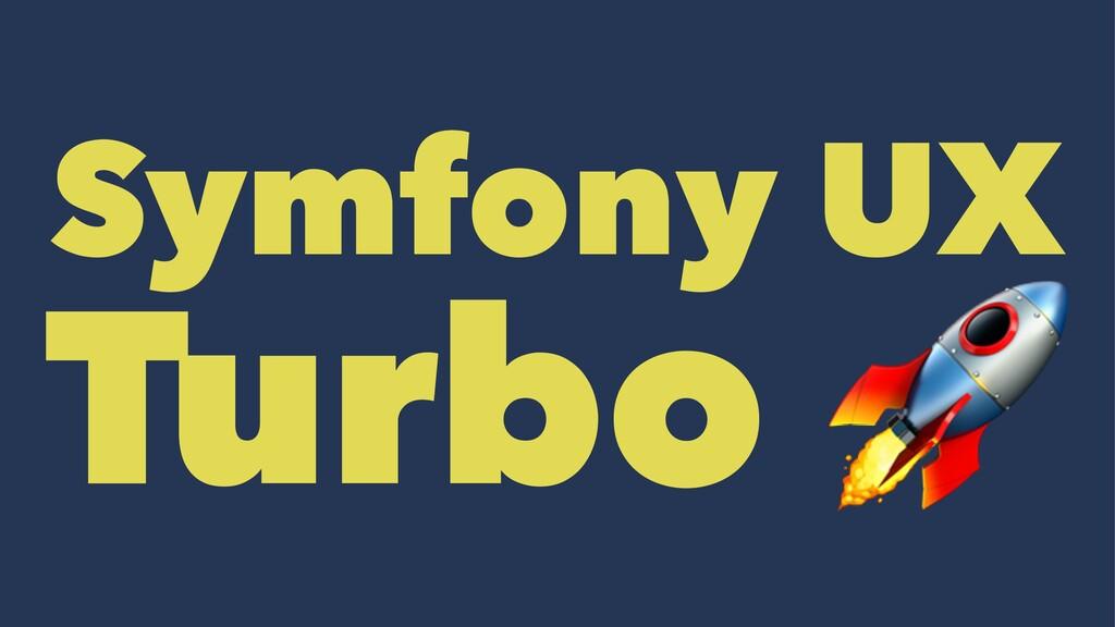 Symfony UX Turbo