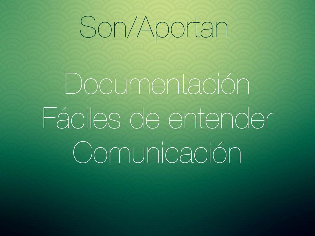 Documentación Fáciles de entender Comunicación ...
