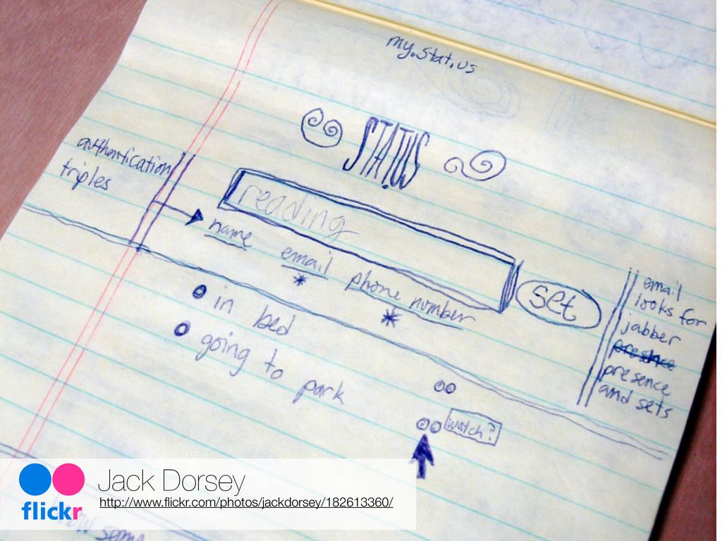Jack Dorsey http://www.flickr.com/photos/jackdor...