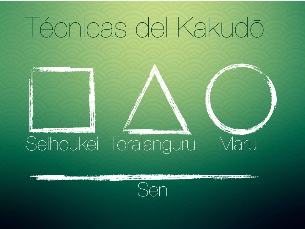 Técnicas del Kakudō Maru Toraianguru Seihoukei ...
