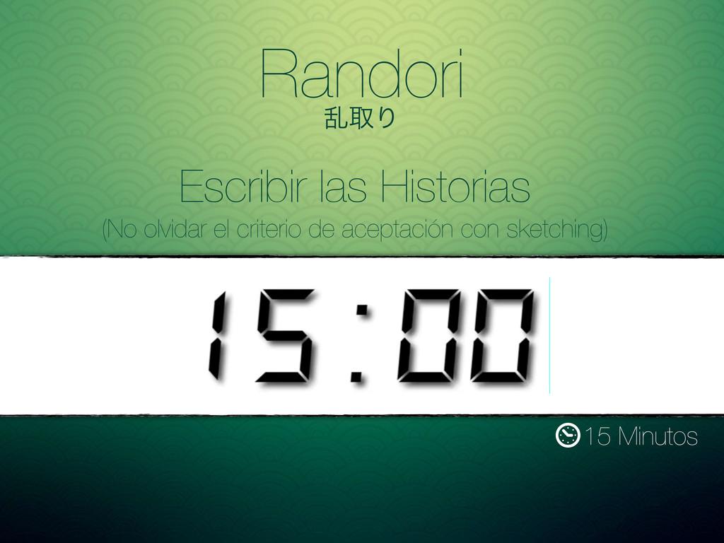 Randori ཚऔΓ 15 Minutos Escribir las Historias (...
