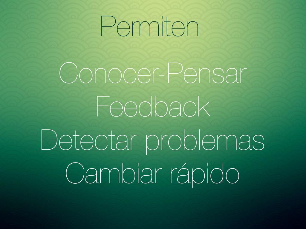 Conocer-Pensar Feedback Detectar problemas Camb...