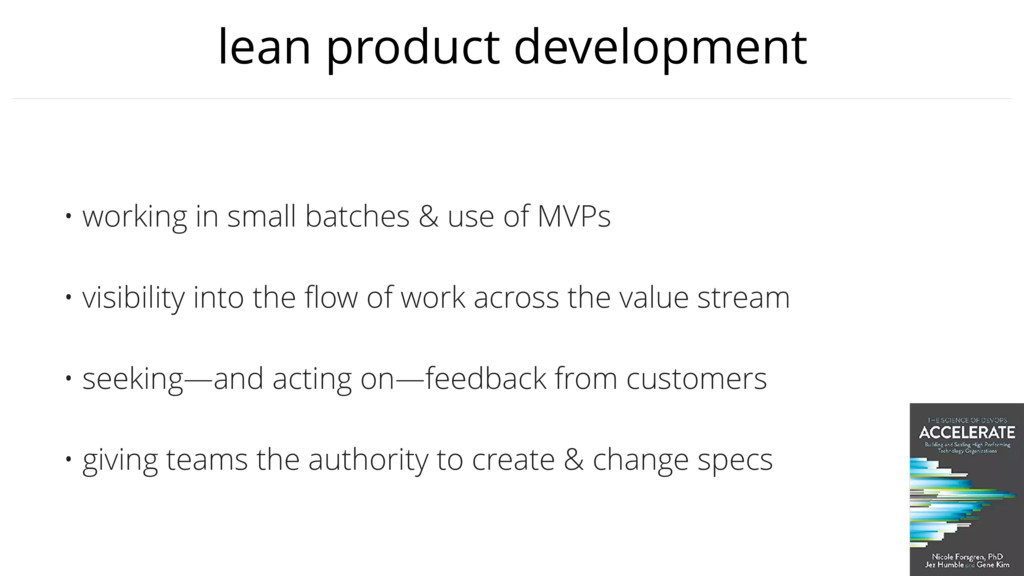 lean product development • working in small bat...
