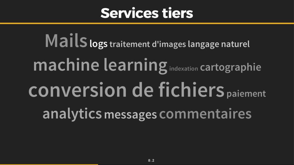 Services tiers Services tiers Mails logs traite...