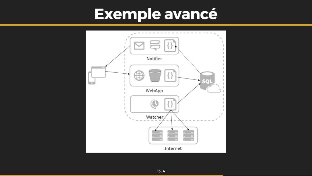 Exemple avancé Exemple avancé 13 . 4