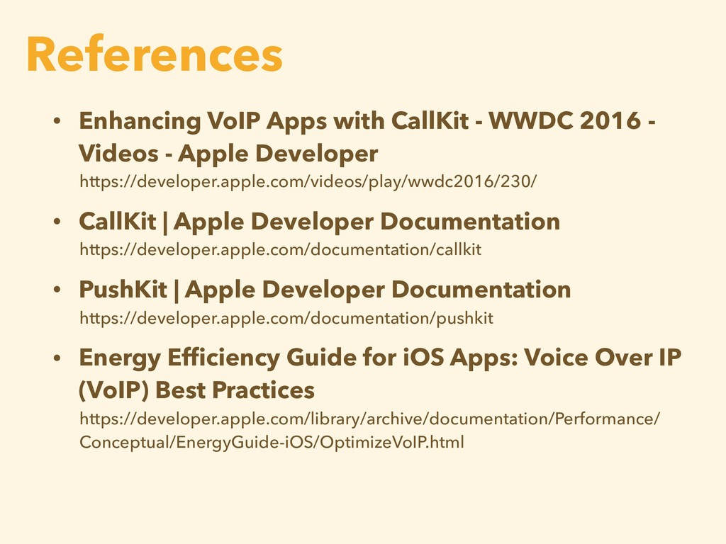 • Enhancing VoIP Apps with CallKit - WWDC 2016 ...