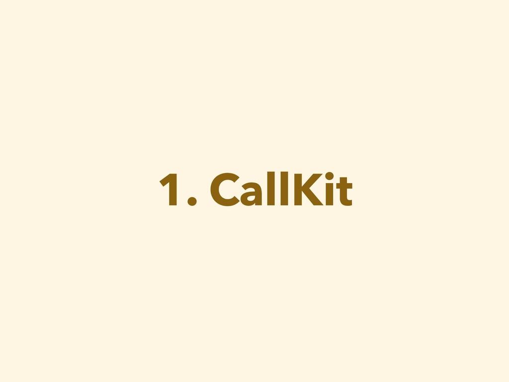 1. CallKit