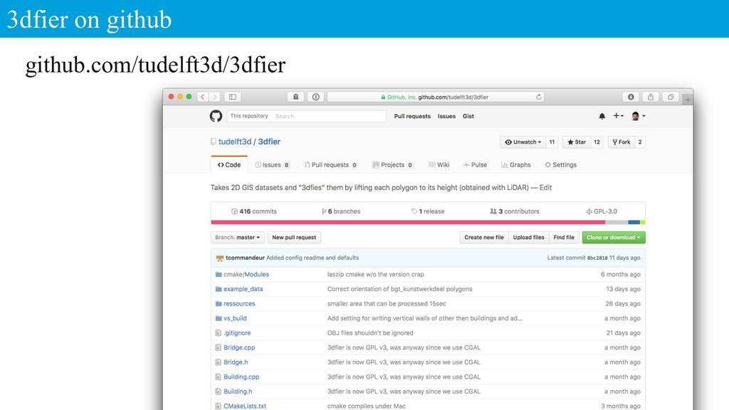 3dfier on github 19 github.com/tudelft3d/3dfier