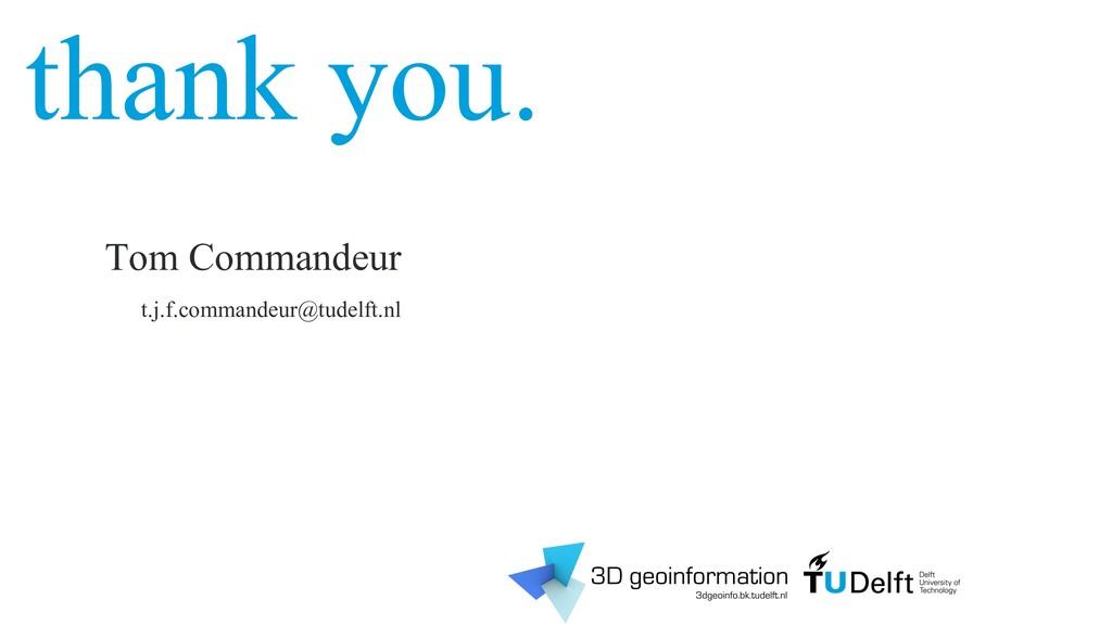 thank you. h.ledoux@tudelft.nl 3d.bk.tudelft.nl...