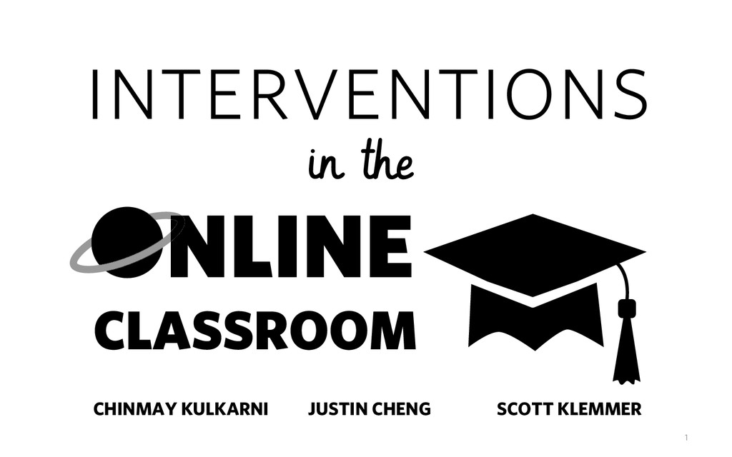 interventions NLINE CLASSROOM in the JUSTIN CHE...