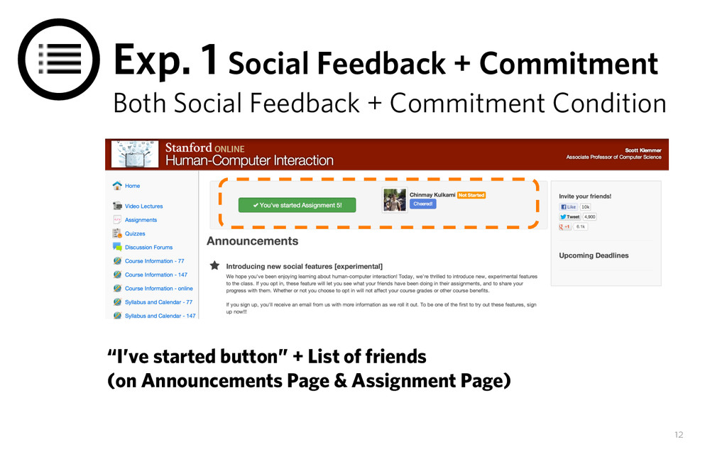 Exp. 1 Social Feedback + Commitment Both Social...