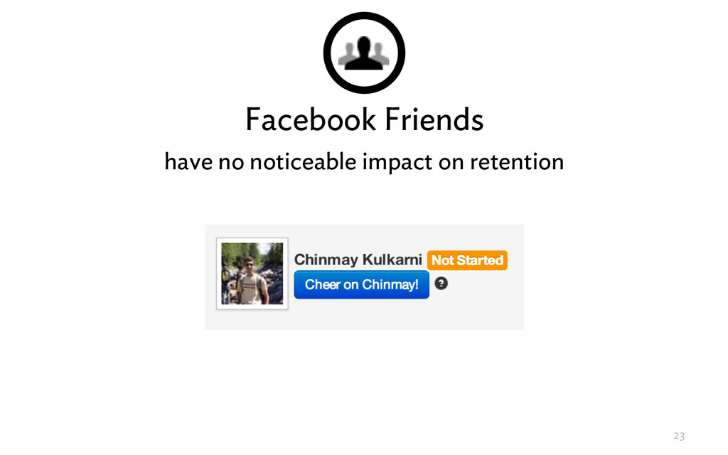 Facebook Friends have no noticeable impact on r...