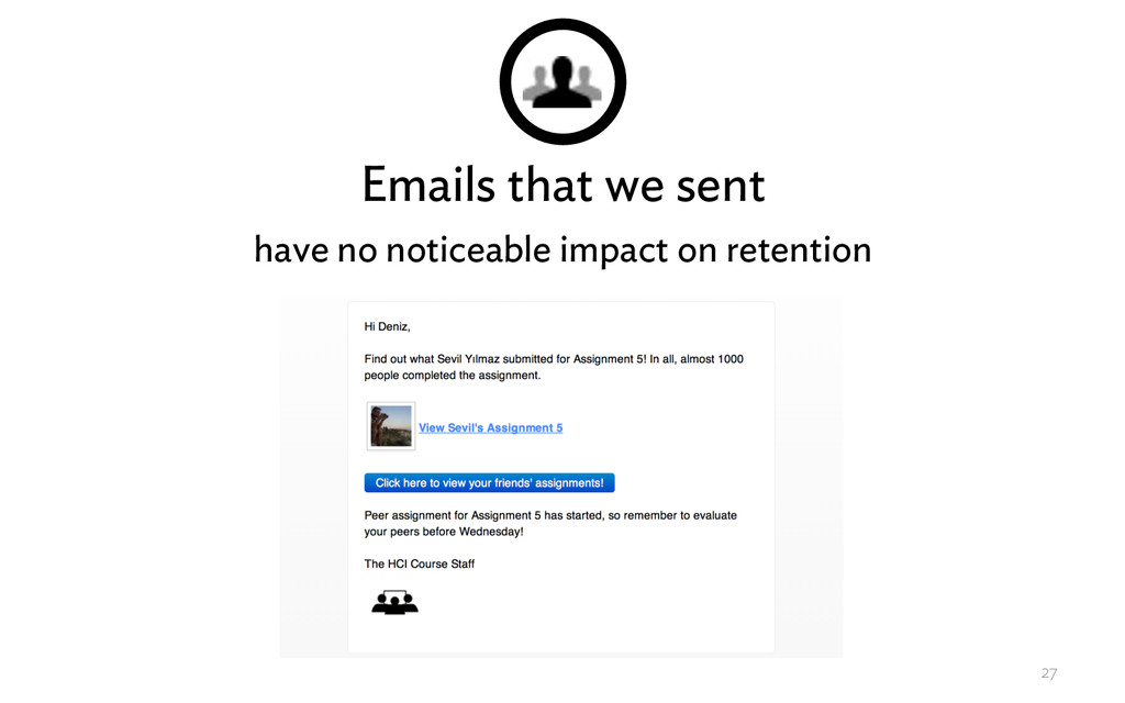 Emails that we sent have no noticeable impact o...
