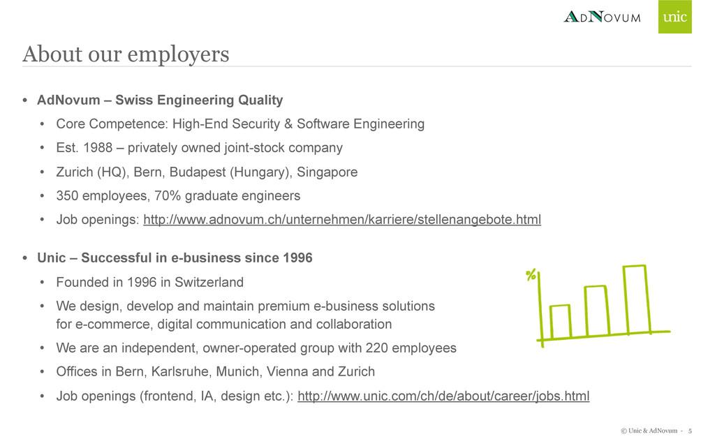 © Unic & AdNovum - About our employers • AdNovu...